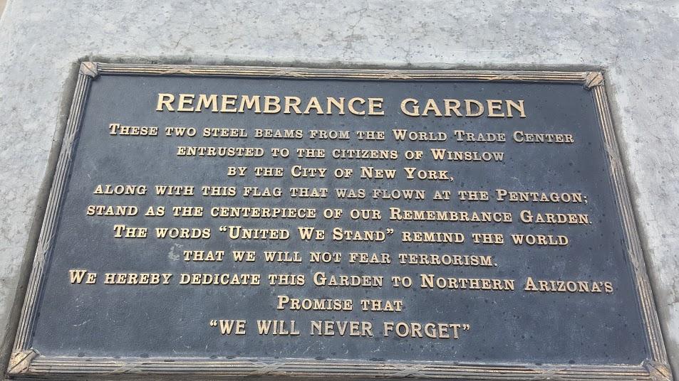 Remembrance Garden, Winslow AZ