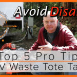 5 Top Pro Tips for Using Your RV Waste Tote Tank