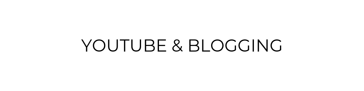 YouTube, Camera Gear, Blogging Tools
