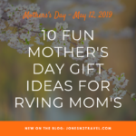 10 Fun Mother's Day Gift Ideas for RVing Mom's